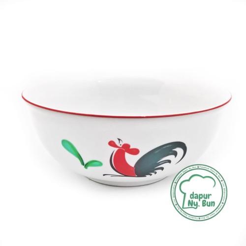 Foto Produk Mangkok Sayur Ayam Jago Seri 2 / Ukuran 17,5cm / Mangkuk Saji dari Dapur Ny.Bun