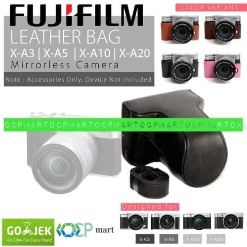 Foto Produk Leather Case Fujifilm X-A3 X-A2 X-A10 Bag Tas Kamera XA3 XA2 XA10 Fuji - Cokelat dari ocp mart
