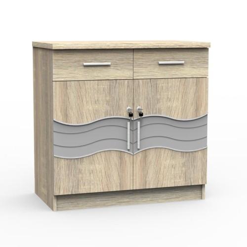 Foto Produk SUPER Kitchen Set Bagian Bawah Dua Pintu Minimalis Sonoma Oak KSB 921 dari Super Furniture Online