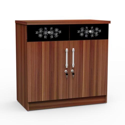 Foto Produk SUPER Kitchen Set Bagian Bawah Dua Pintu French Walnut KSB 821 dari Super Furniture Online