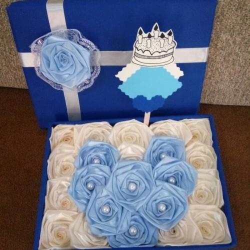 Foto Produk bunga box satin handmade hadiah valentine anniv ultah dari putria-