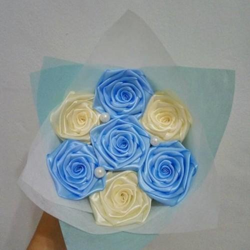 Foto Produk buket bunga satin handmade murah hadiah wisuda valentine dari putria-