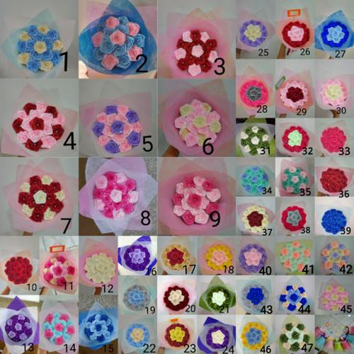 Foto Produk buket bunga mawar mini handmade satin hadiah valentine ultah dari putria-