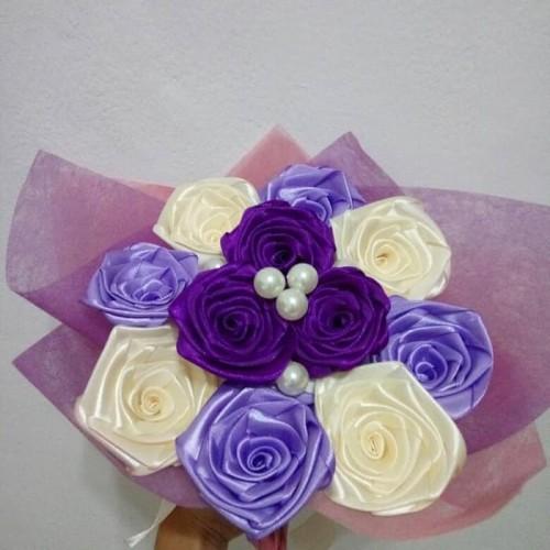 Foto Produk buket bunga mawar handmade murah dari putria-