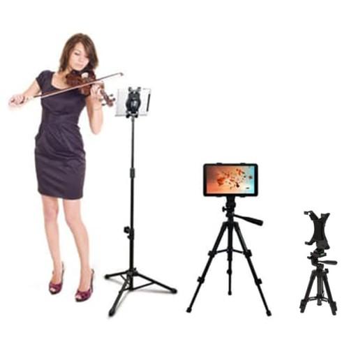 Foto Produk Tablet iPad Holder Stand Microphone Tripod Monopod Tongsis SM-710 dari BRANDOS