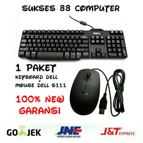 Foto Produk Paket keyboard +mouse Merk Dell ms111 USB Kondisi baru 100% dari Sukses 88 Computer