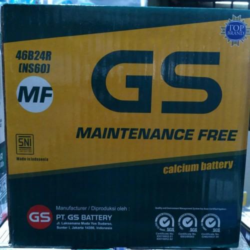 Foto Produk Aki Mobil / Battery GS ASTRA Type GS MF 46B24R / NS60 12V 45AH dari Eka Jaya otista