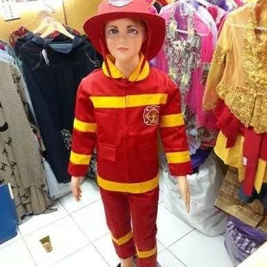 Foto Produk Baju pemadam kebakaran anak/pakaian profesi anak/kostum karnaval dari FAUZAN GHIFFARY SHOP