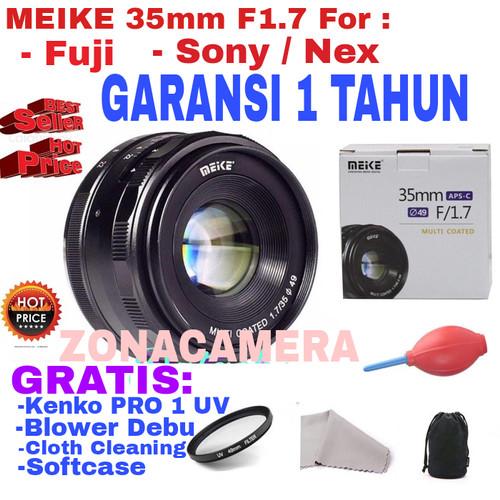 Foto Produk Lensa MEIKE 35mm APS-C F1.7 for Sony Nex/Fuji dari zona camera