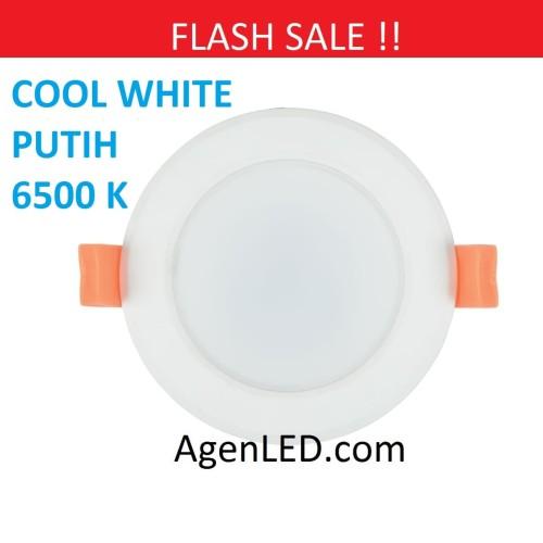 Foto Produk Lampu Downlight LED Panel Lamp 3W PUTIH 3 w watt 3watt COOL WHITE dari AgenLED