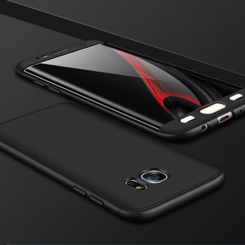 Foto Produk 360 protection slim matte case Samsung galaxy S7 Edge - Hitam dari importking