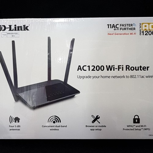 Foto Produk D-Link Dlink DIR-822 , AC1200 WI-FI Router dari Exadaya Loka Niaga