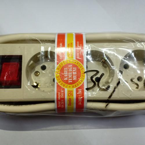 Foto Produk Stop kontak 3L 3M kebel tembaga murni standart SNI dari surya jaya electro
