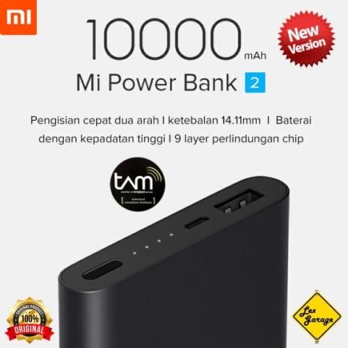 Foto Produk Xiaomi Mi Power Bank 2 10000mAh New Version QC 2.0 Garansi Resmi TAM - Silver dari Lex Garage