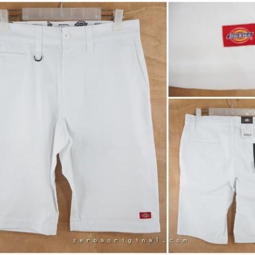 Foto Produk Celana Pendek Dickies Flat Front Work Pant Original - White dari Serba Original