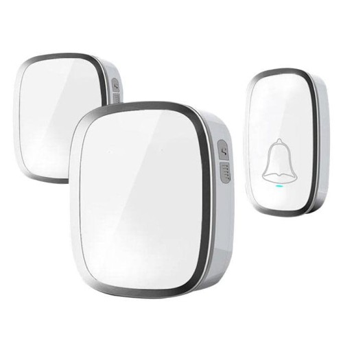 Foto Produk Bell Bel Pintu Pagar Rumah Wireless Waterproof 2 Receiver A101 dari Oya Online Computer