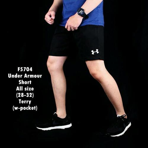 Foto Produk celana pendek pria gym fitnes olahraga jogging hitam dari LUCKY SPORTS