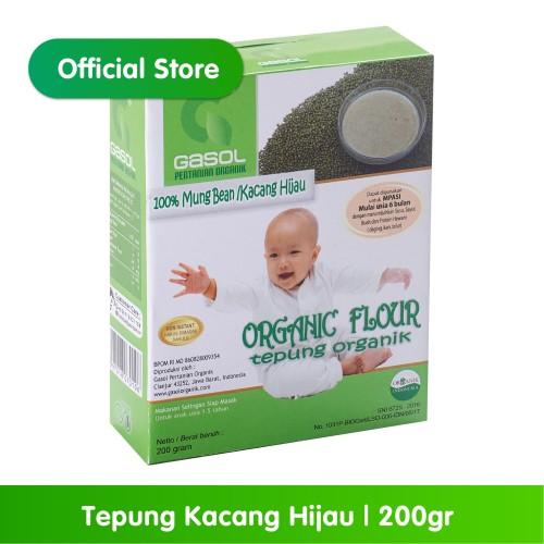 Foto Produk GASOL Organik Tepung Kacang Hijau 200Gr / 200 Gr / Makanan Bayi dari Gasol Organik Indonesia