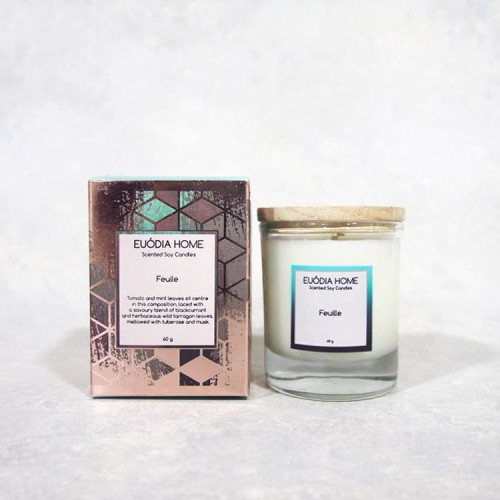 Foto Produk Feuille Soy Scented Candles 60 g dari Euodia Home Store