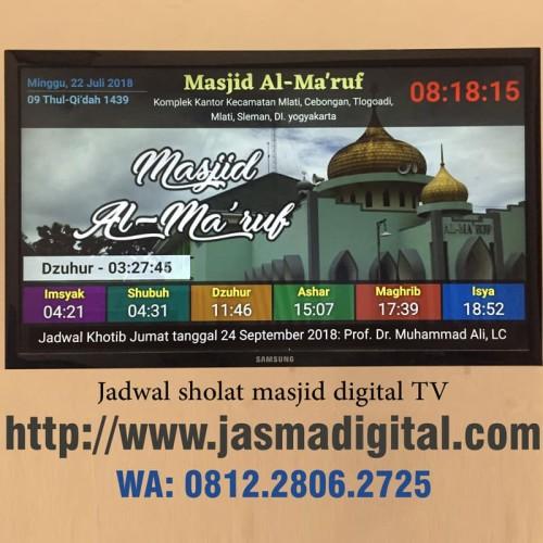 Foto Produk Jadwal sholat masjid menggunakan TV LED dari Jasma Digital