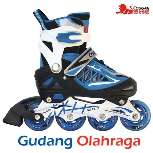 Foto Produk Sepatu Roda (Size L) Inline Skate COUGAR Blue Black dari Naila Store 014
