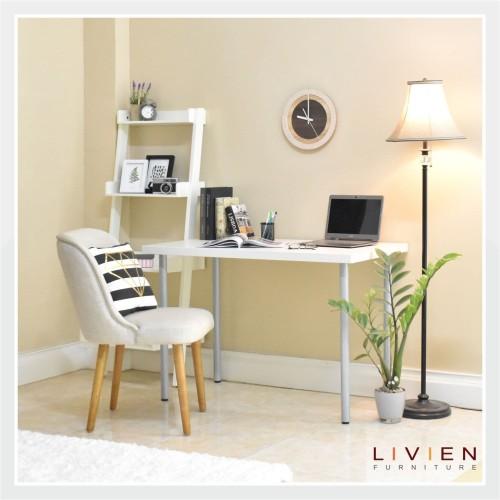 Foto Produk Meja Belajar / Meja Kerja Minimalis White / LIVIEN Furniture dari Livien