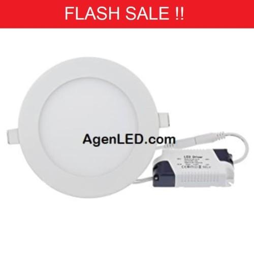 Foto Produk Lampu Downlight LED Panel 6W Putih 6 W Watt 6Watt Tipis Bulat Inbow dari AgenLED