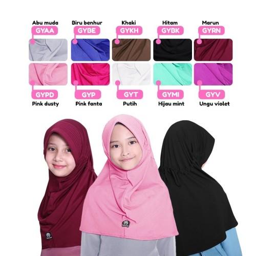 Foto Produk BAJUYULI - Kerudung Jilbab Anak Murah Polos Basic Spandek Adem GY dari Grone