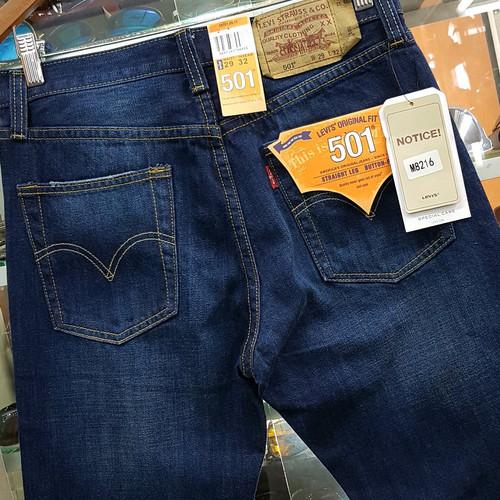 Foto Produk Celana Levis 501 / Original USA / Regular Fit / Panjang / Blue Navy - Navy dari Halakita Shop