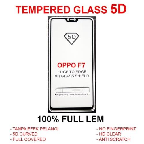 Foto Produk Oppo F7 Pro Plus full screen anti gores kaca 3D 4D TEMPERED GLASS 5D dari Case Pedia