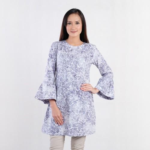 Foto Produk Batik Pria Tampan - Blouse Sophia Charcoal Tropical Vine - Putih, S dari Batik Pria Tampan Solo
