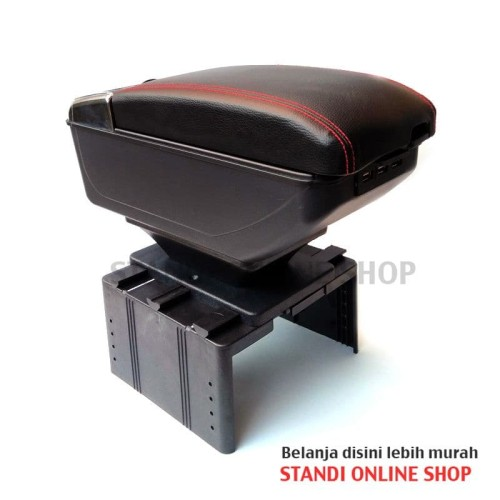 Foto Produk Arm Rest Console Box Universal Hitam Honda Mobilio Brio BRV dari STandi Online Shop