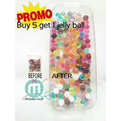 Foto Produk Jelly ball bola jelly waterbeads kristal gel tanaman air - Mix colour dari Michellecraft