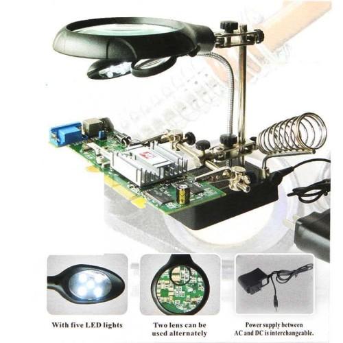 Foto Produk PEMEGANG | PENJEPIT PCB + KACA PEMBESAR DAN LAMPU SENTER LED dari HOUSE SPAREPART