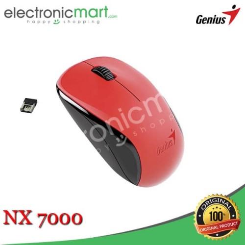 Foto Produk Wireless Mouse Genius NX7000 NX-7000 - Merah dari Electronicmart