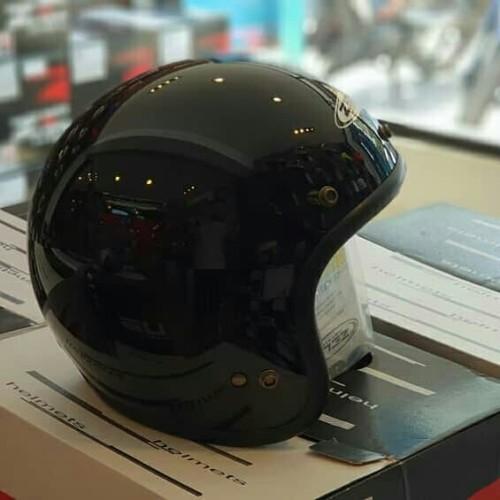 Foto Produk Helm Zeus Retro Half face ZS385C hitam glossy black dari Prodigy Rider