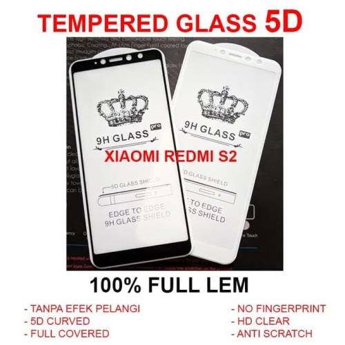 Foto Produk Xiaomi Redmi S2 full screen curve anti gores 3D 4D TEMPERED GLASS 5D dari Selularindotama