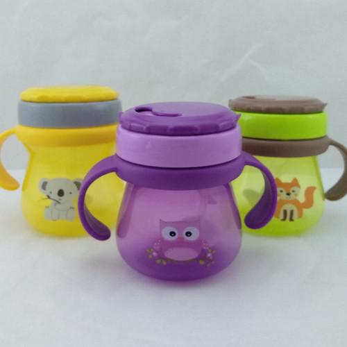 Foto Produk Botol Minum Baby Safe / Baby Safe Training Cup With Straw - Ungu dari Panen Raya