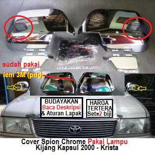 Foto Produk cover spion croum kijang kapsul 2000 krista pakai lampu (set) dari Aulia Motor Lubuk Basung