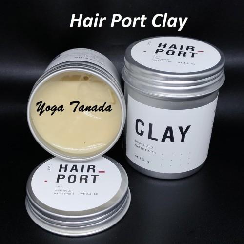 Foto Produk Pomade Hairport Hair Port Clay Strong Matte Waterbased (FREE SISIR) dari Yoga Tanada