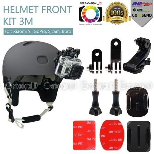 Foto Produk Helmet Front Mount Kit 3M For Xiaomi Yi,GoPro,Sjcam,B Pro dari serbadigital-id