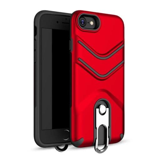 Foto Produk Armor Ring Case For Iphone 7+/8+ - Merah dari Platinumcase ID