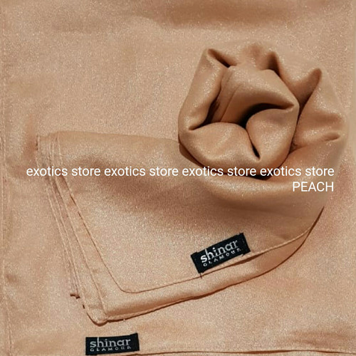 Foto Produk Jilbab Segiempat Shinar Glamour Katun Shimmer Ansania PEACH dari exotics-store