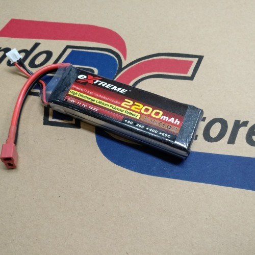 Foto Produk Baterai Lipo eXtreme 2200Mah 7,4V 2S 30C Deans plug dari IndoRCstore.Com