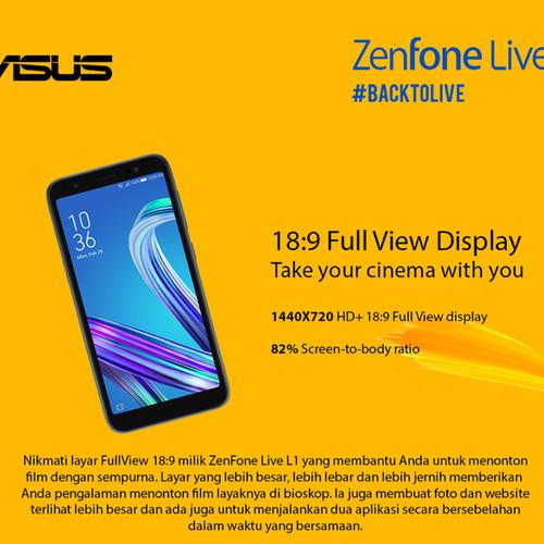 Foto Produk Asus Zenfone Live L1 ZA550KL Ram 2/16GB Garansi Resmi dari Nic-cell