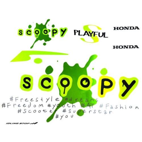 Foto Produk Sticker Body Kiri Putih Hijau – Scoopy eSP K93 871X0K93N20ZCL dari Honda Cengkareng