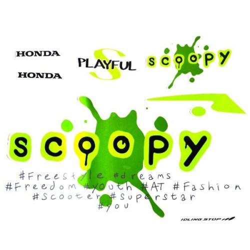 Foto Produk Sticker Body Kanan Putih Hijau – Scoopy eSP K93 871X0K93N20ZCR dari Honda Cengkareng
