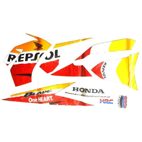 Foto Produk Sticker Body Kanan Orange Black – Blade 871X0K07970ZAR dari Honda Cengkareng