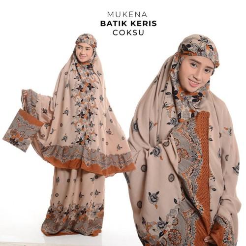 Foto Produk MUKENA DEWASA BALI BATIK KERIS COKLAT SUSU dari Pusat Mukena Indonesia