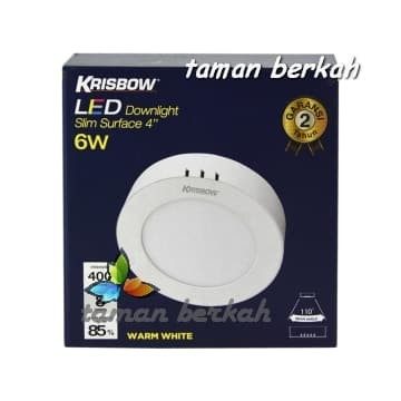 Jual Krisbow Lampu Downlight Led 6 W White Warm Downlight Slim Surface 6w Kota Bekasi Taman Berkah Os Tokopedia